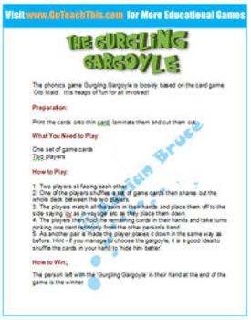 'PHONICS GAME' - oy & oi Phonics Game - Gurgling Gargoyle Part 2