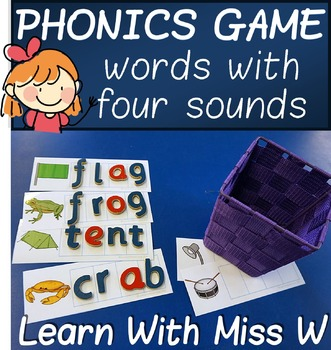 Phonics Game: words with four sounds - build and write