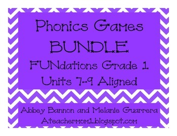 Phonics Games BUNDLE Grade 1