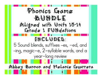 Phonics Games BUNDLE - Units 10-14 Grade 1