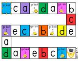 Phonics Games Board - focus letters a-e