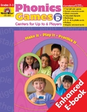Phonics Games: Centers for Up to 6 Players, Level D