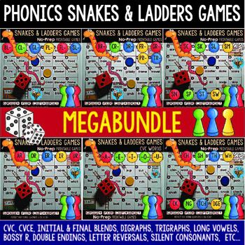 Phonics Games Mega Bundle: Snakes and Ladders