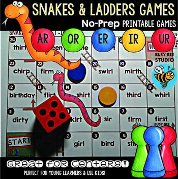 "Phonics Centers   Phonics Games ""Snakes and Ladders"" Mega Bundle"