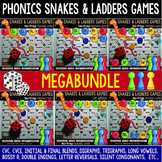 "Phonics Centers | Phonics Games ""Snakes and Ladders"" Mega Bundle"