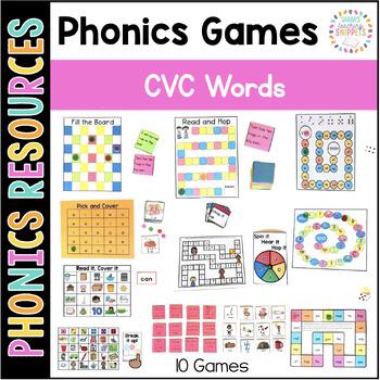 Phonics Games: Short Vowel CVC Words