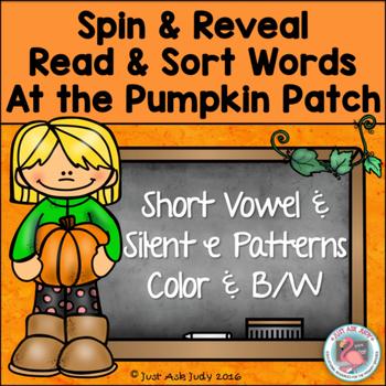 Phonics Games Short Vowel and Silent e Pumpkin Patch Theme