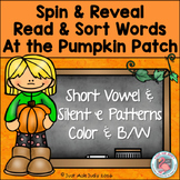 Phonics Games Short Vowel and Silent e Pumpkin Patch Theme