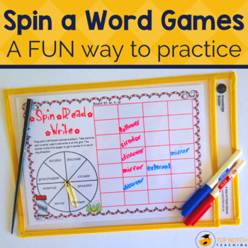 Phonics Games: Spin, Read, Write Set A