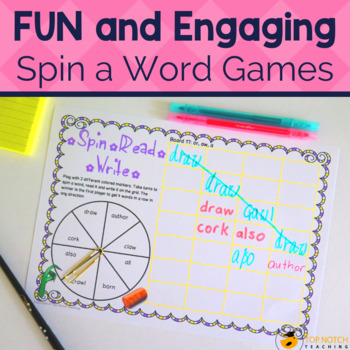 Phonics Games: Spin, Read, Write Set C