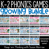 Phonics Games Year Long Growing Bundle, Slip It and Flip I