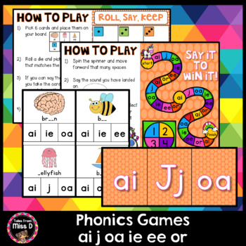 Phonics Games ai j oa ie ee or