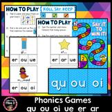 Phonics Games qu ou oi ue er ar