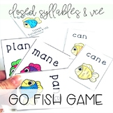 Phonics Go Fish! Closed Syllables and VCE (Orton-Gillingham Inspired)