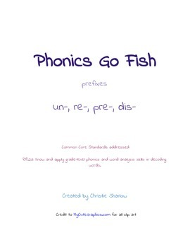 Phonics Go Fish - Prefixes
