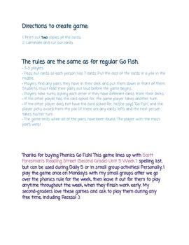 Phonics Go Fish - Suffixes