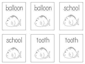 Phonics Go Fish - Variant Vowel oo, ue, & ew words