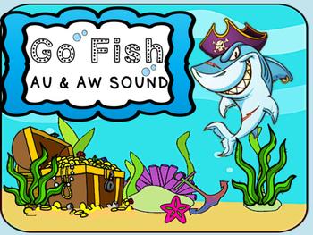 Phonics Go Fish 'aw and au' Words