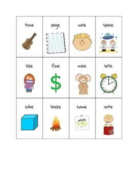 Phonics Go Fish - long vowels