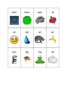 Phonics Go Fish - short vowels