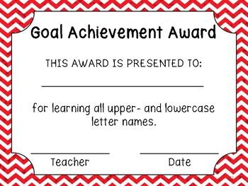 Phonics Goals Clip Chart & Awards
