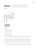 Phonics Grade Level 1, Unit 11: Trace It, Box It, Color It, Write It