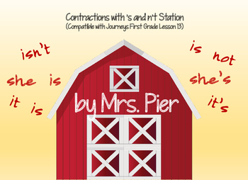 Contractions with 's & n't (Compatible with Journeys 1st G