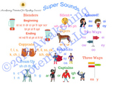 Phonics Graphic Organizer-Super Sounds reference sheet