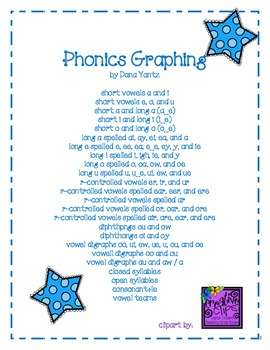 Phonics Graphing - 30 pages