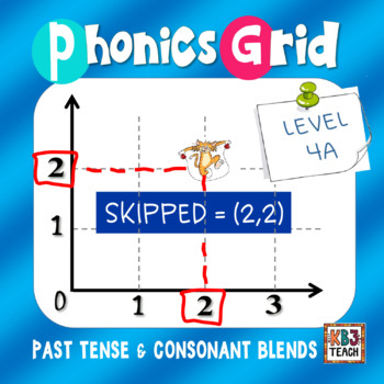 Phonics Grid (Ordered Pairs, Consonant Blends, Past Tense Verbs) LEVEL 4A
