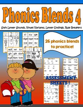 Phonics Group 4- Soft Letter Sounds, Vowel Variants, Endings, Rule Breakers