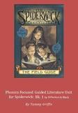Phonics Guided Literature Unit for Spiderwick Book 1