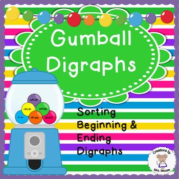Digraphs - Gumball Digraphs Sort