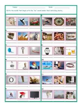 Phonics HW Sound Photo Worksheet