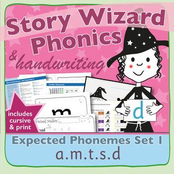 Phonics & Handwriting: Set 1: a.m.t.s.d