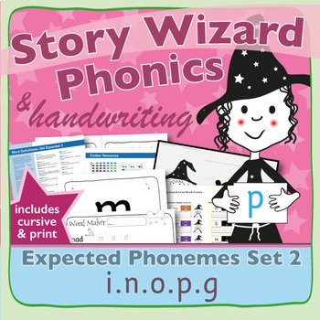 Phonics & Handwriting: Set 2: i.n.o.p.g