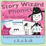 Phonics & Handwriting: Set 3: c.k.u.b.ck