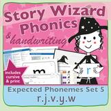 Phonics & Handwriting: Set 5: r.j.v.y.w