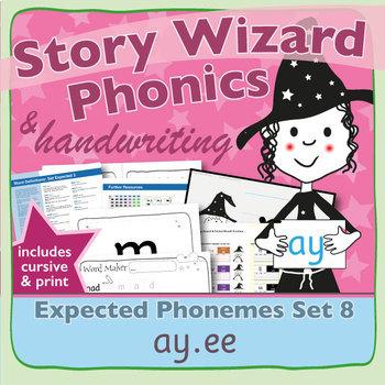 Phonics & Handwriting: Set 8: ay.ee
