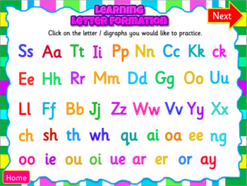 Phonics Handwriting - Powerpoint with sound effects