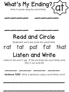 Phonics: Hanging with Word Families