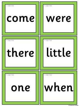 Phonics High Frequency Words Flashcards {UK Teaching Resources}
