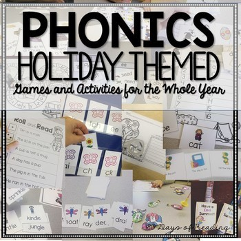 Phonics Holiday Games and Activities Bundle