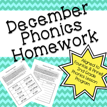 Phonics Homework: December