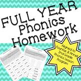 Phonics Homework: FULL YEAR