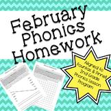 Phonics Homework: February