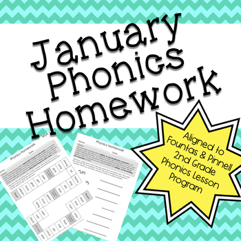 Phonics Homework: January