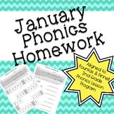 Phonics Homework: January