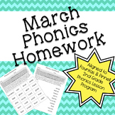 Phonics Homework: March