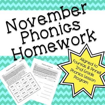 Phonics Homework: November
